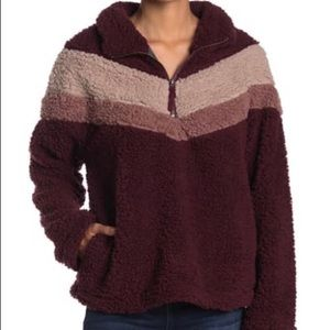 Ithaca Half Zip Wubby Pullover Sweater Size Small